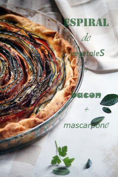 Espiral de vegetales , bacon y mascarpone - La cocina de Ompa-Lompa