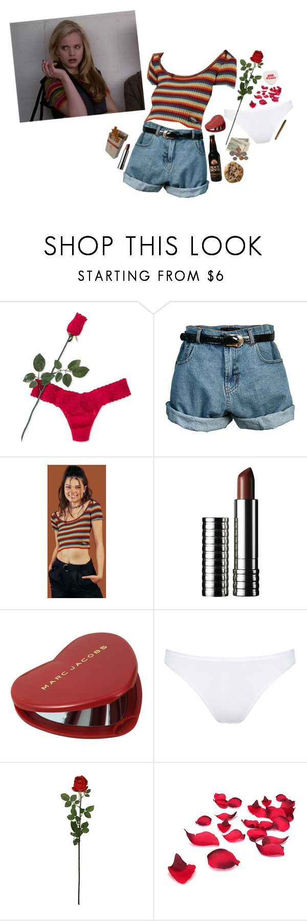 """""""american beauty"""" by amberundead ❤ liked on Polyvore featuring Hanky Panky, Retrò, UNIF, Clinique, Marc Jacobs, Hanro, Laura Cole and americanbeauty"""