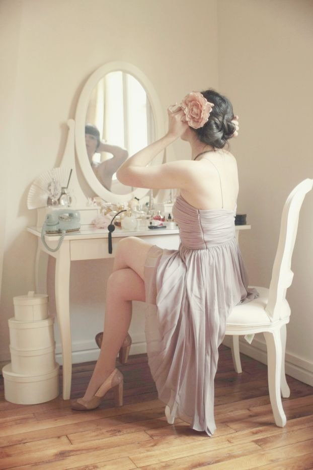 Enjoy getting ready, taking time to feel good about how I look, morning or evening, whether going out or staying in.