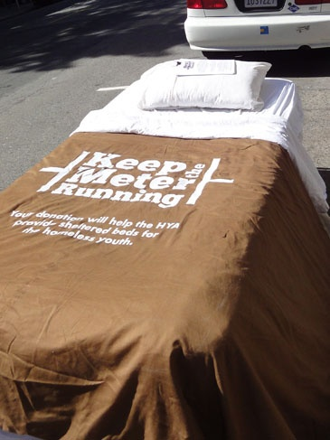 Awesome Advertising Bed Put In Parking Space For Keep The Meter Running Guerrilla MarketingMarketing