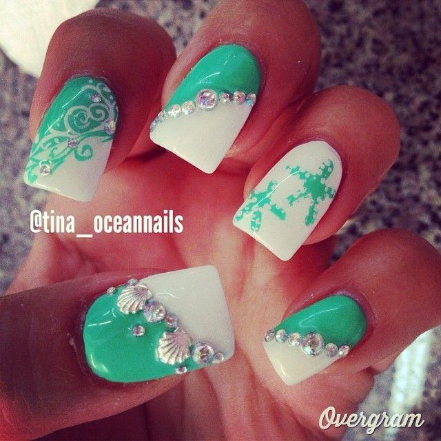 Omg Beach nails! so cute!!