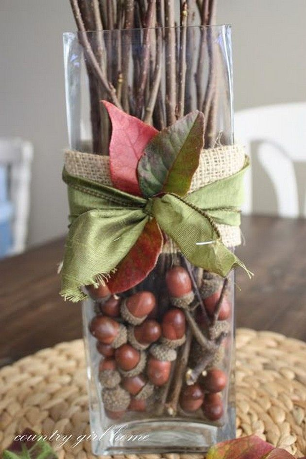 Best 10 acorn crafts ideas on pinterest natural crafts for Acorn decoration