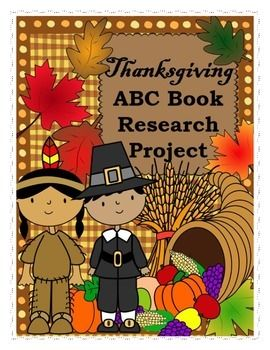 With this project, students will research, and demonstrate their knowledge of the Thanksgiving holiday in an ABC book format.  Ideally, the goal would be for students to learn the true story of Thanksgiving, such as:  why it was first celebrated, who celebrated it, what was eaten, details about when it was first declared a holiday, and details about how it is celebrated today.