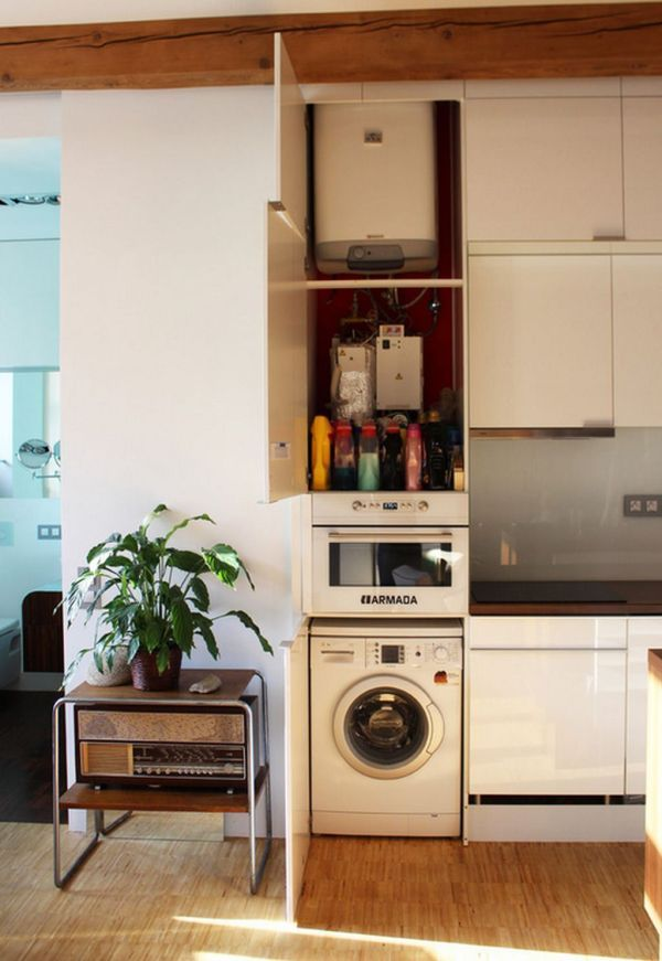 50 Square Meter Apartment With An Unconventional Interior Design.