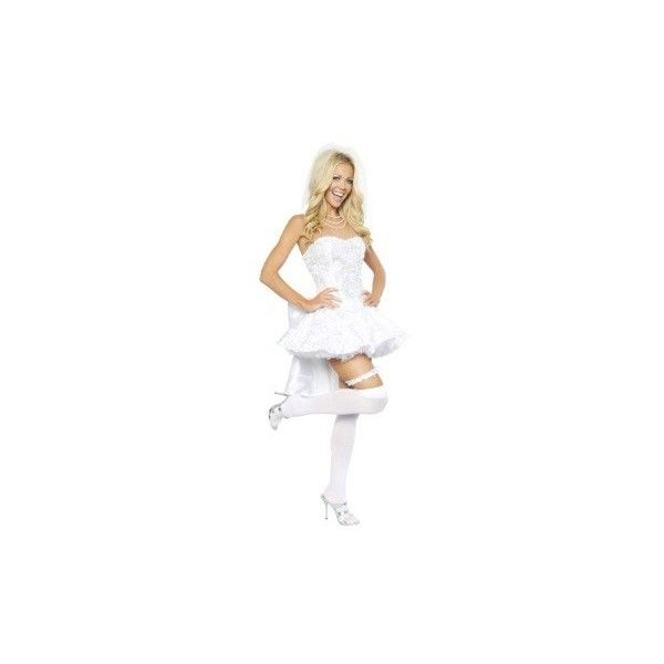 Women's Fantasy Bride Costume ❤ liked on Polyvore featuring costumes, women's halloween costumes, white halloween costumes, bride halloween costume, sexy bride halloween costume and ladies halloween costumes