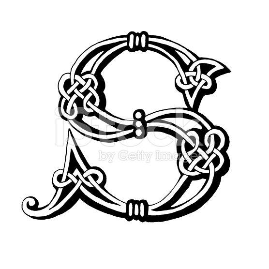 Celta letra S ilustración de stock libre de derechos