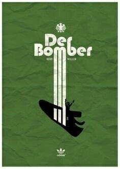 Crackin' adidas Gerd Muller poster