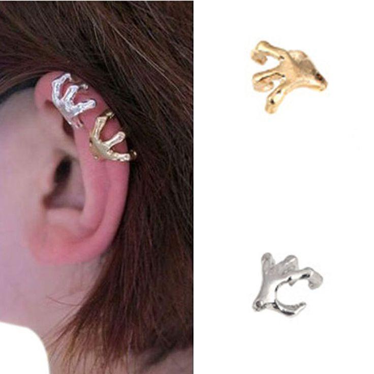 Мода высокое качество панк золото серебро черепа руки манжеты уха клип для женщин серьги ювелирные изделия Cut Earcuff клип на серьгикупить в магазине Five Star Outlet наAliExpress