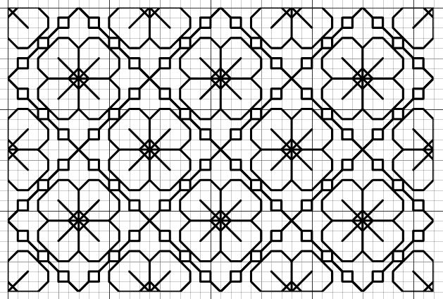 Blackwork Fill Pattern-  could you use this for chicken scratch pattern