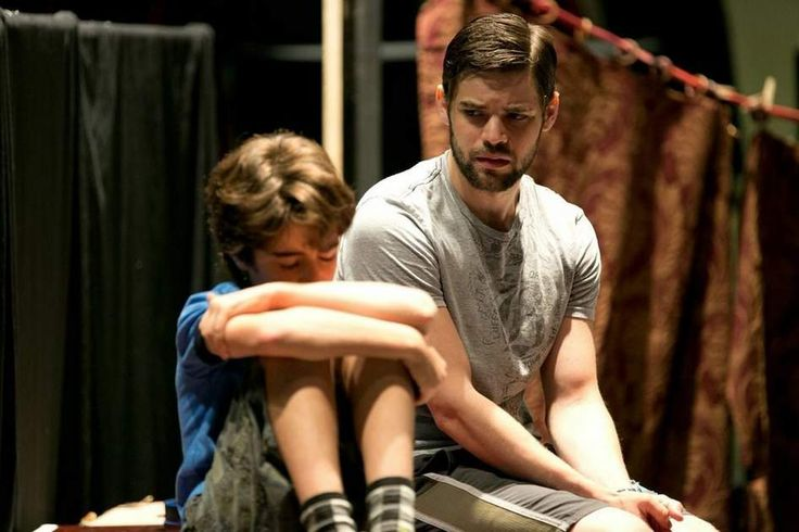 """""""Finding Neverland"""" in rehearsal. As talented as Matthew Morrison is, I have to admit that I was very disappointed that Jeremy Jordan didn't continue the role into the Broadway cast."""