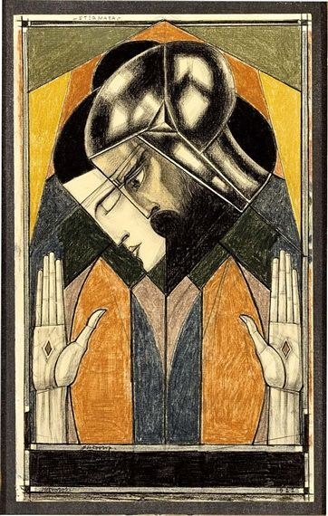 Jan Toorop - STIGMATA; Medium: black chalk; Pencil on paper