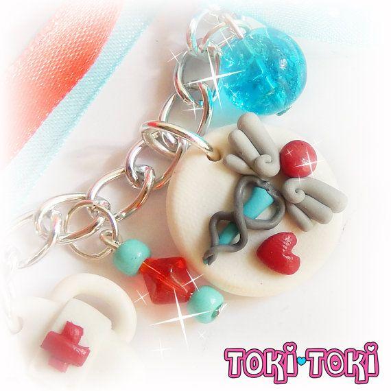 Nurse Doctor Charm Bracelet Polymer Clay Jewelry by MadeByTokiToki