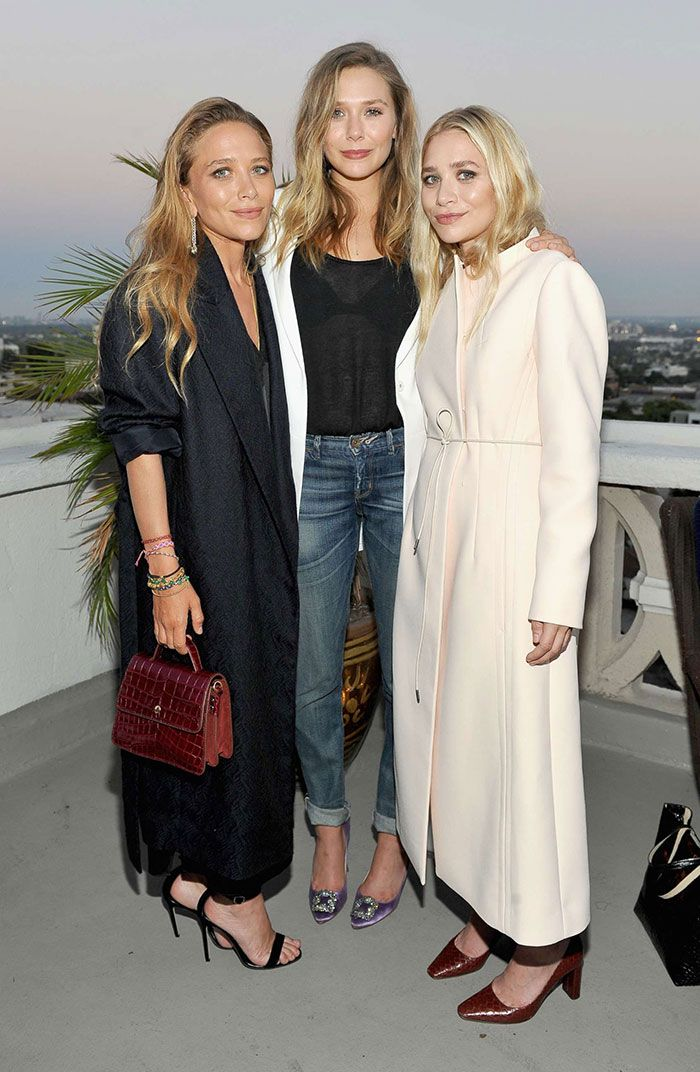Mary Kate And Ashley Olsen With Their Younger Sister Elizabeth Ashley Olsen Style Mary Kate Olsen Olsen Twins Style