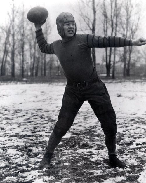 Curly Lambeau modeling the new Green Bay Packers uniforms, 1923