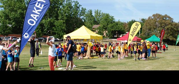 Curtin Primary School sports carnival. Curtin is a suburb in Canberra, Australia. Part of the Woden Valley district. Curtin is named after John Curtin, Australian Prime Minister between 1941 and 1945.