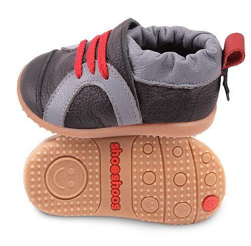 Black and Grey Smileys Trainers   www.shooshoosuk.com