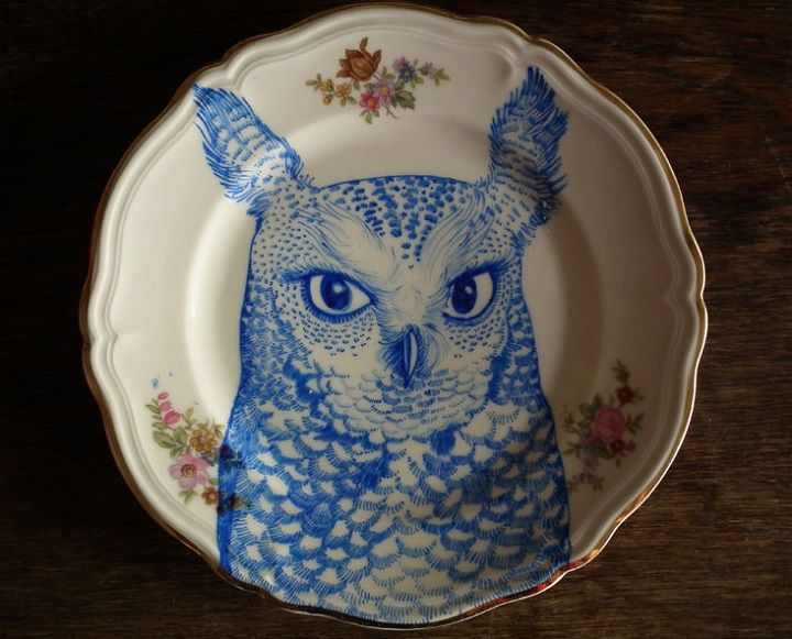 china plate reuse by Yvonne Ellen on Etsy