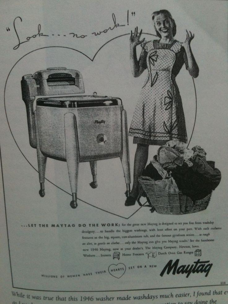 Old Maytag Wringer Washer Ad Vintage Antique Retro