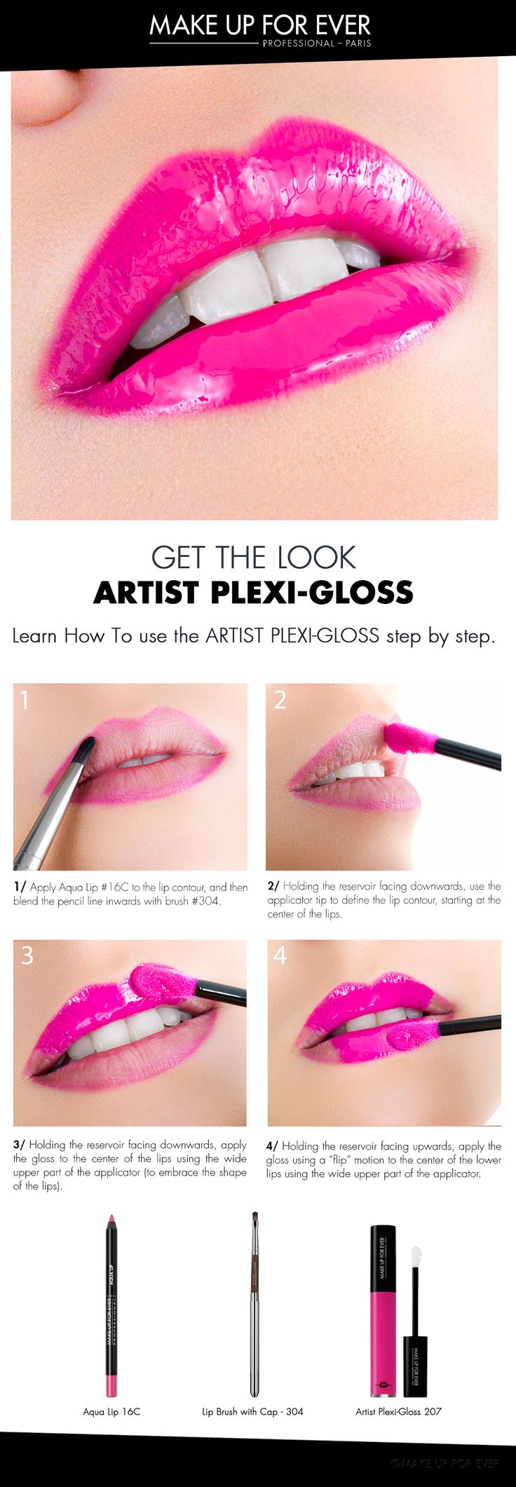 Here are the basic steps of a good Artist PLEXI-GLOSS application. Nox, opacity and brightness are possible without compromise.