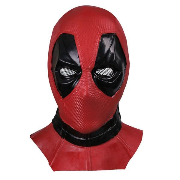 Deadpool Full Head Face Mask Cosplay X-Men Superhero Costume Mask Props Latex