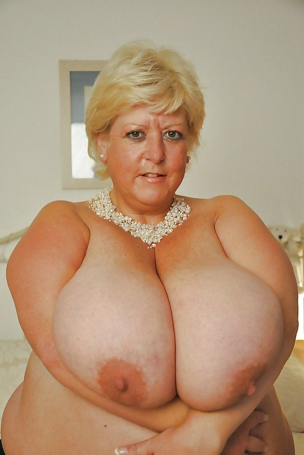 Mature massive round boobs naked
