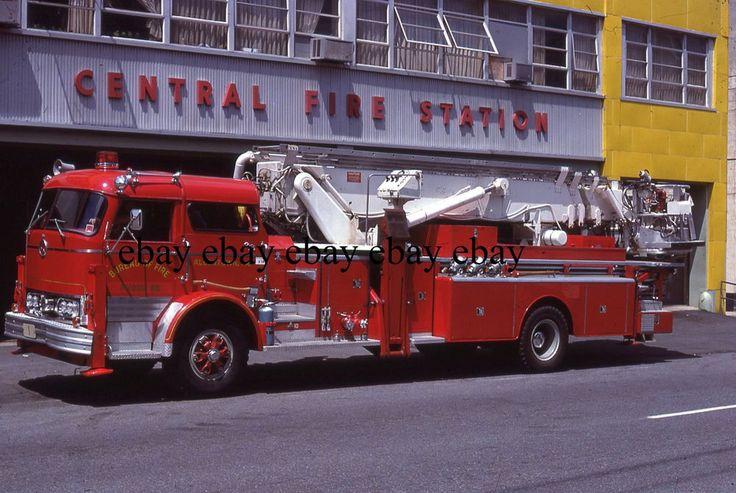 Fire Apparatus Slide - Allentown PA - 1968 Mack Eaton Ladder 1