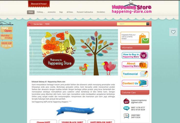 Happening-Store.com : Online Shop Web Portfolio by ATDIV.com - http://www.atdiv.com/project/happening-store-com