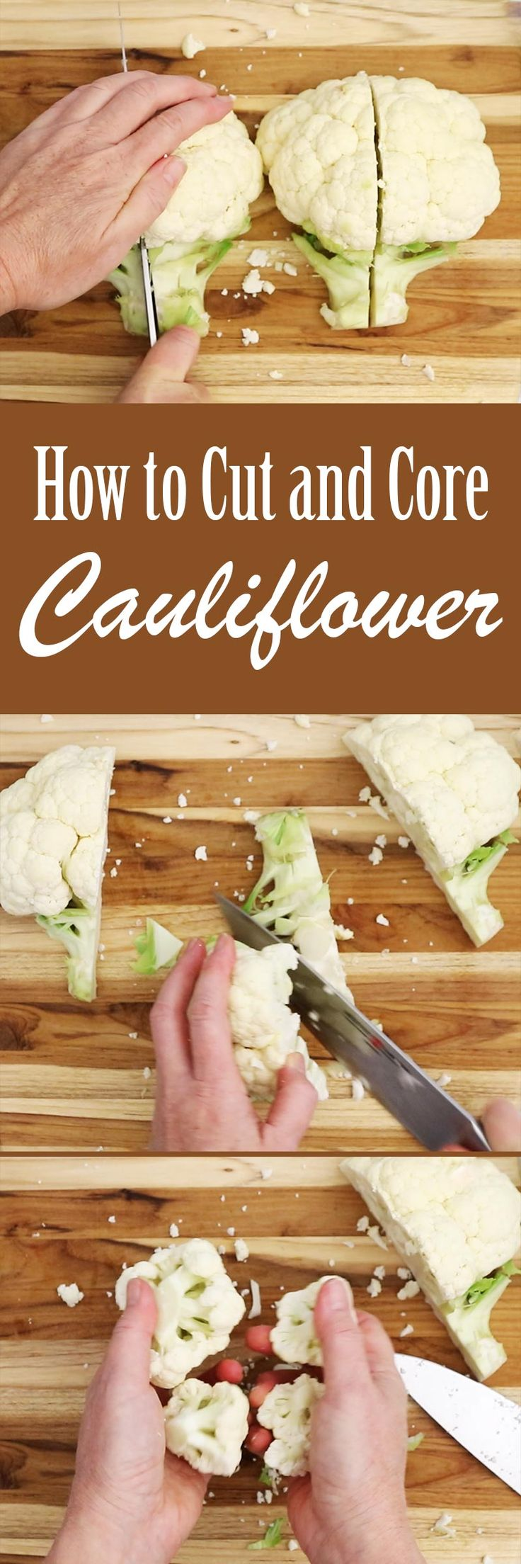 How To Quickly, Easily, And Safely Core And Cut Cauliflower!