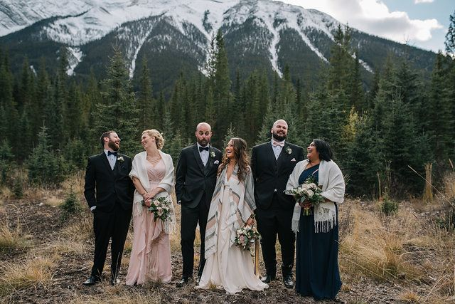 Dana Cole Photography - bridal party, canmore wedding