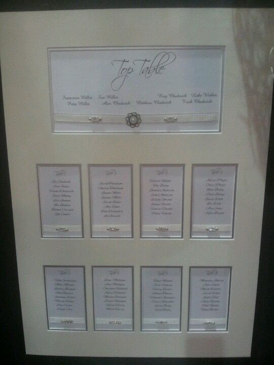 A2 Double mounted table plan available in choice.of.colours and embellishment only £50!