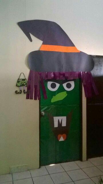 puerta de bruja puertas decoradas para halloween