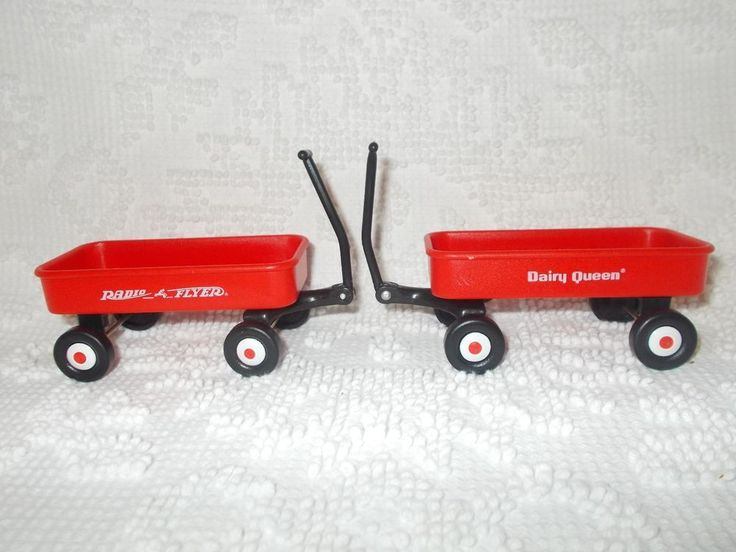 Vintage Radio Flyer Dairy Queen Miniature Red Toy Wagon Lot of 2  #RadioFlyer