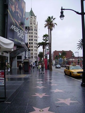 Hollywood Walk of Fame is along Hollywood Boulevard and ...