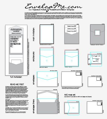 Illustrator template for DIY Pocketfold invites - complete with all the guides and sizes!