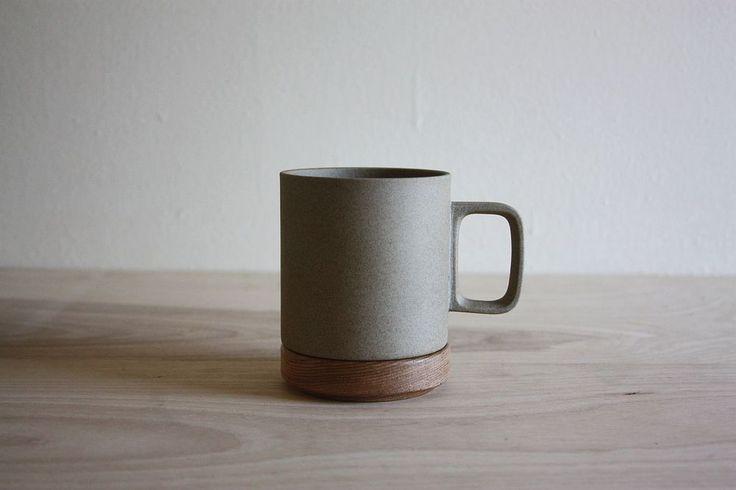 Hasami mug and wooden coaster/lid | Common Fort