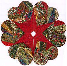 quilted tree skirt patterns free   Free Quilt Pattern: Stars All Around Tree Skirt from EZ Quilting