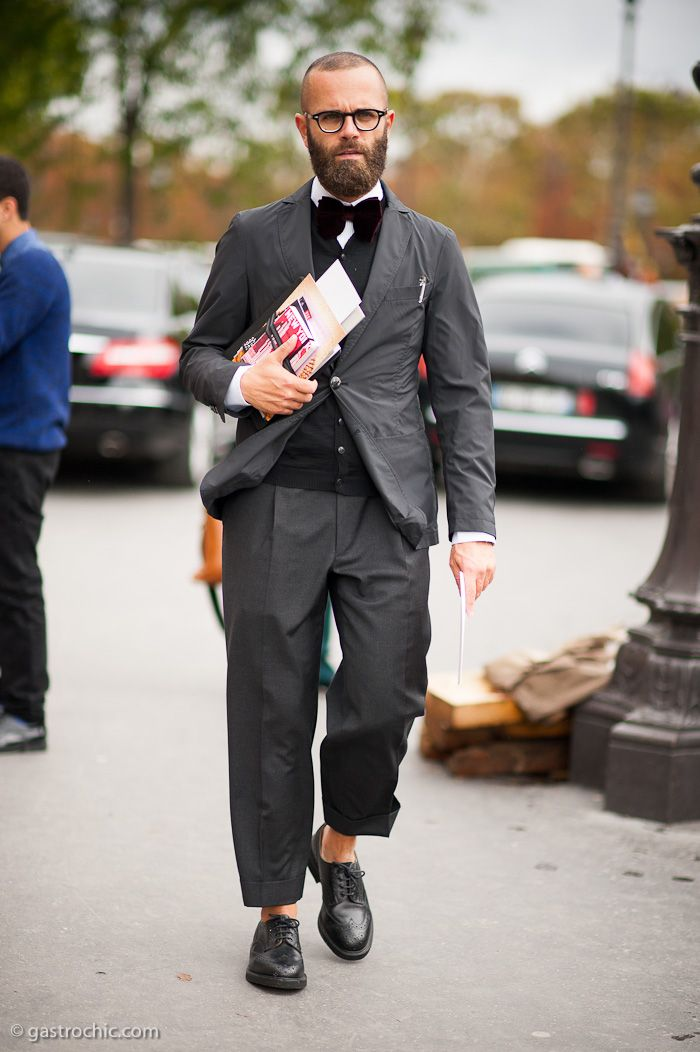 Angelo Flaccavento at Carven #streetstyle #fashion | Gastro Chic
