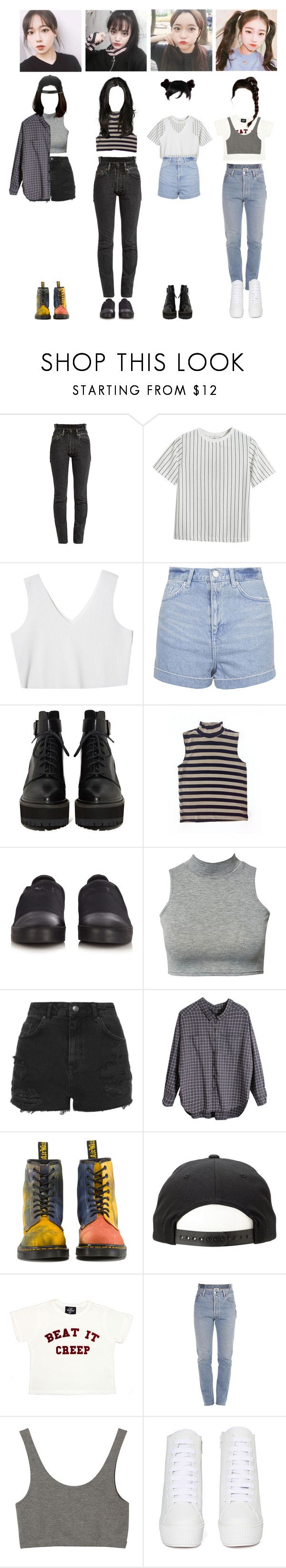 """""""Alpha:bet Girls : Highlight Maker Audition"""" by blackheart-redtears ❤ liked on Polyvore featuring Vetements, Chicnova Fashion, StyleNanda, Topshop, Y-3, Club L, Retrò, Dr. Martens, Valfré and Monki"""