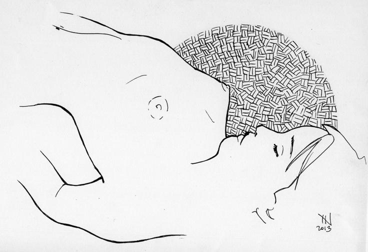 NAKED ART SERIES · Female     //    ARTIST · Jordi NN  // #Naked #Nude #Art #Draw #Ink #Woman