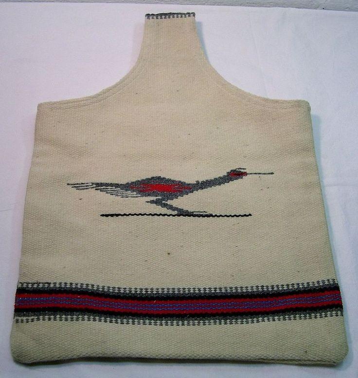 Vintage~CHIMAYO N.M.~Wool Rug HAND BAG Purse~TRUJILLO'S WEAVING SHOP~Bird Design #TRUJILLOSWeavingShop #TotesShoppers #Casual