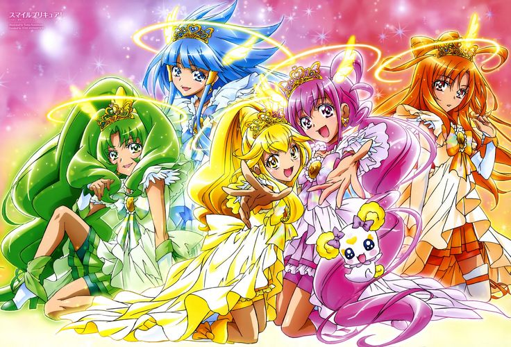 High Resolution Wallpapers = smile pretty cure backround, 3412x2318 (1805 kB)