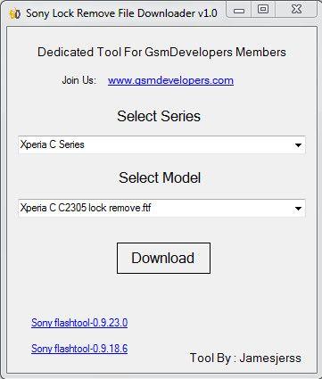 Download Sony Lock Remove File Downloader v.1.0