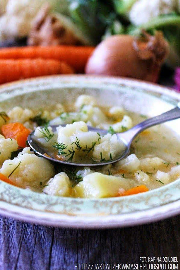 Jak pączek w maśle...blog kulinarny,smacznie,zdrowo,kolorowo!: Zupa kalafiorowa na skrzydełkach