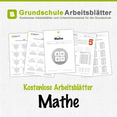 Kostenlose Arbeitsblätter und Unterrichtsmaterial für das Fach Mathe in der Grundschule.