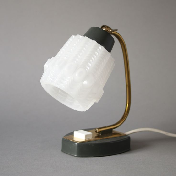 Vintage brass bedside lamp, golden Mid Century lamp 60s ...