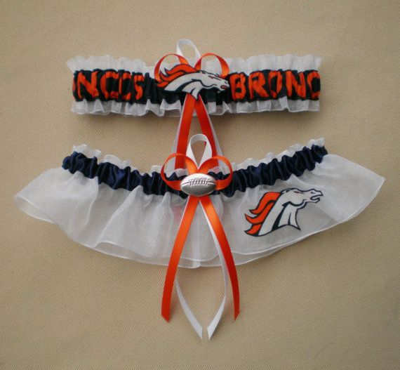 Denver+Broncos+Fabric+Logo++Wedding+Garter+by+Intimatesecrets11,+$23.99