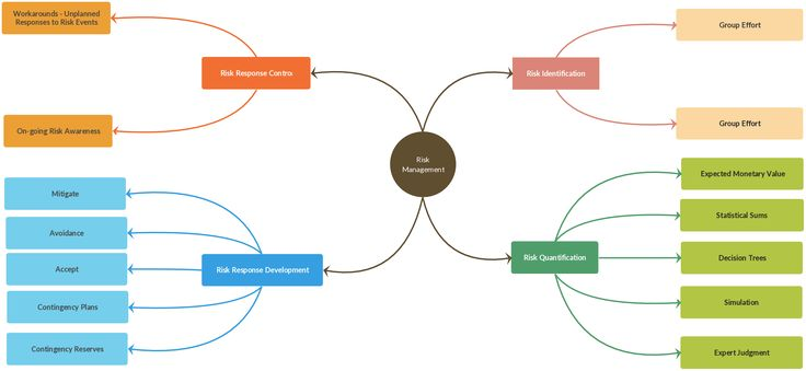 A Simple Mind Map To Show The Risk Management Process
