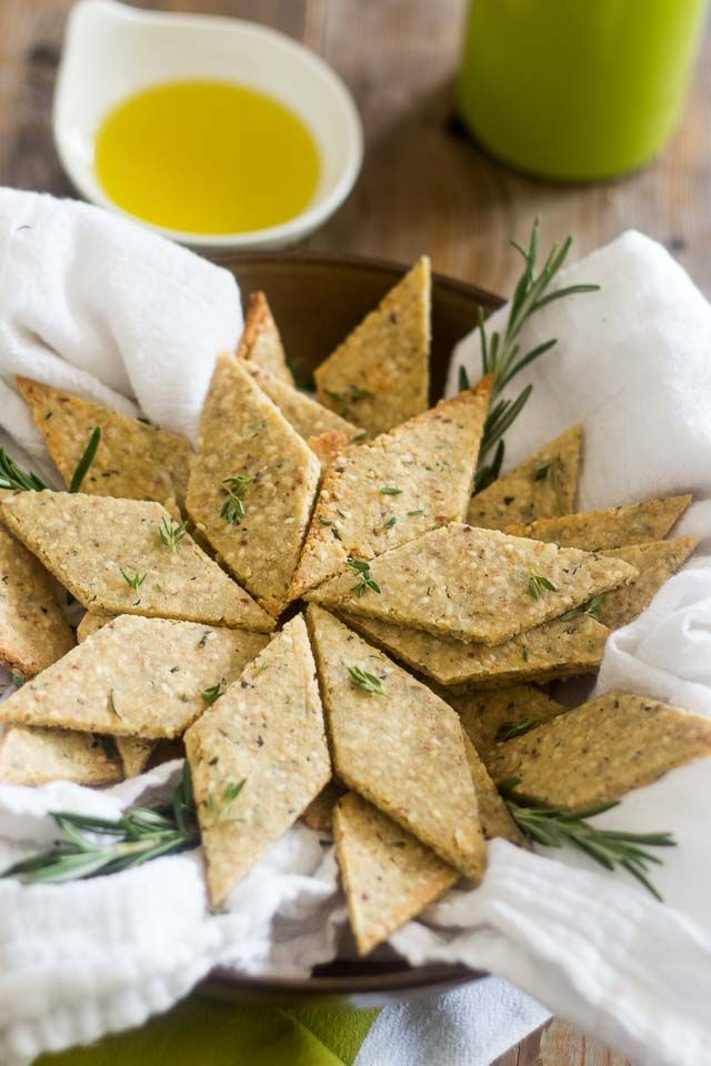 Rosemary and Sesame Paleo Crackers   thehealthyfoodie.com