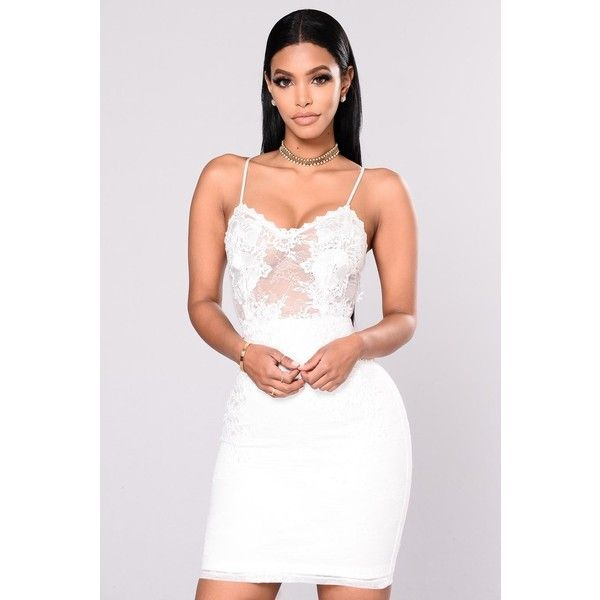 Bachelorette Party Dress White ($75) ❤ liked on Polyvore featuring dresses, zipper dress, white zipper dress, lacy white dress, zip dress and crochet trim dress