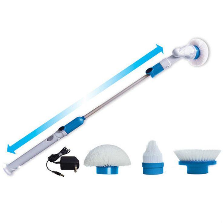 Yofe الأعاصير تدور الغسيل متعددة الوظائف الكهربائية مقبض طويل فرشاة التنظيف المنزلية مجموعة